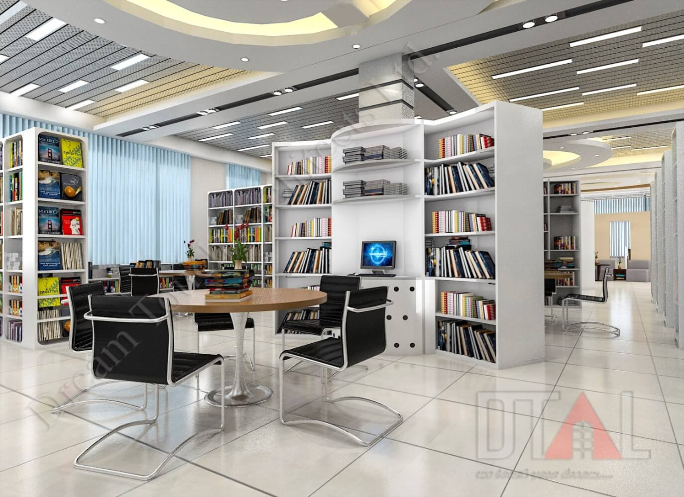 interior design for library